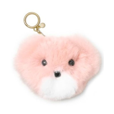 MICHAEL Michael Kors Genuine Fur Teddy Bear Pom Pom Fob