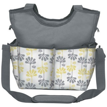 Kids Line Holds All Printed Diaper Bag Tote, White