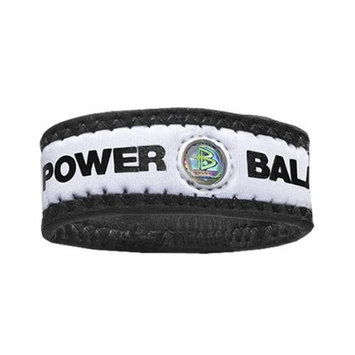 Authentic Power Balance Neoprene Wristband - White/Black - Large