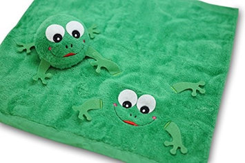 Couture Towel CT-TPFG001501 14 x 13 in. Mike The Frog Towel Forest Green