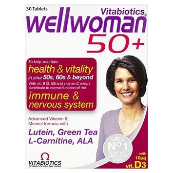4 Units (Bulk Pack) Vitabiotics Wellwoman 50+ 30 Tablets