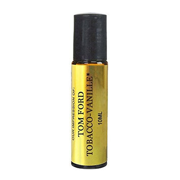 Tobacco Vanille Oil. IMPRESSION of -{TF_Tobbaco_Vanille} with SIMILAR Perfume Notes, 10ml Amber Glass Roller, Black Cap; 100% Pure (VERSION/TYPE OIL; Not Original...