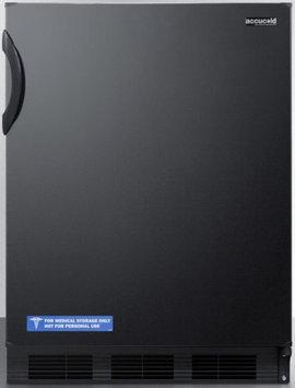 Summit FF6BADA 5.5 Cu. Ft. Black Undercounter Compact Refrigerator