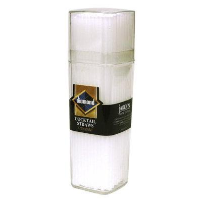 Jarden Diamond Cocktail Plastic Straws, White, 170 Ct