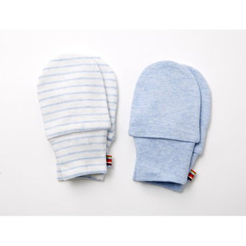 Agabang giggle Organic Cotton Baby Mitts - Heathered Blue 2-Pack