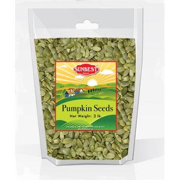 SUNBEST Shelled Unsalted Raw Pumpkin Seeds / Pepitas Raw 3 Lb, No Shell, Pumpkin Seed Kernels (48 Oz)