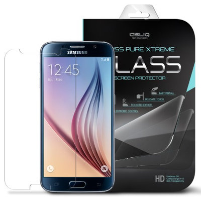 Galaxy S6 Screen Protector, OBLIQ [Zeiss Pure Xtreme][Tempered Glass Screen Protector][3PK] HD optically enhanced tempered glass screen cover for Samsung Galaxy S6 (2015)