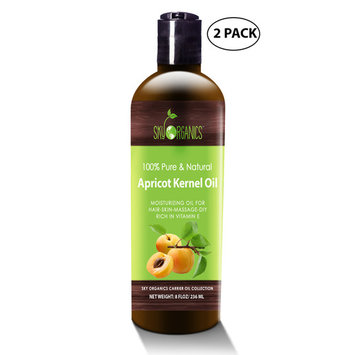 Apricot Kernel Oil by Sky Organics - 100% Pure, Natural & Cold-Pressed Apricot Oil - Ideal for Massage , Cooking and Aromatherapy- Rich in Vitamin A - 8oz (2 pack)