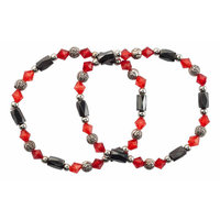 EasyComforts Rose Hematite Bracelets, Set of 2