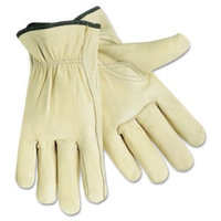 MCR Safety Leather Driver Gloves, Beige, 2 / Pair (Quantity)