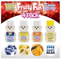 Honey Lube Fruity Fun Flavored Lubricants 4 Pack
