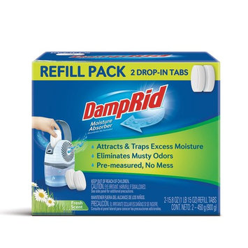 DampRid 15 oz. Drop In Tabs Moisture Absorber Refills Fresh Scent (2-Pack)