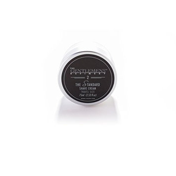 The Gentlemens Refinery 'The Standard' Shave Cream TSA Travel Size, All-Natural & Organic, 75ml by The Gentlemens Refinery