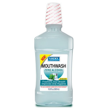Lucky Super Soft MouthWash, Ice Cool Mint, Alcohol Free, 16.9 Oz