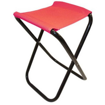 ALEKO CS02RD Outdoor Foldable Camping Chair Fishing Stool Portable Hiking Beach Travel Seat, Red