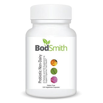 BodSmith Probiotic Non-Dairy is Gluten Free and Non GMO contains 8 species of microorganisms to provide a full spectrum of probiotic strains for proper digestive tract health and function