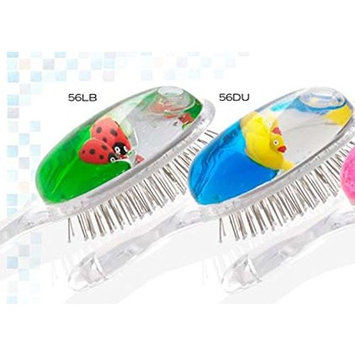 KID'S NOVELTY HAIR BRUSH -GOOD FOR BOYS AND GIRLS - HAS WATER WITH FLOATGING FISH AND SHELLS OF ALL KINDS-MOTHER'S DAY-QUALITY AND GOOD VALUE