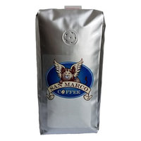 San Marco Coffee Flavored Whole Bean Coffee, Peanut Cream, 1 Pound