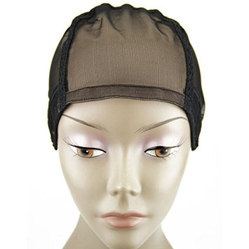 MsFenda 3pcs/lot with 2 Wig Combs Sew-in Black Color Lace Wig Making Cap, Dome Weaving Net Cap