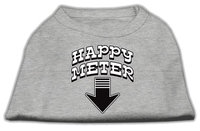 Mirage Pet Products 5126 SMGY Happy Meter Screen Printed Dog Shirt Grey Sm 10