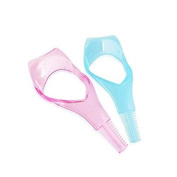 2PCS Plastic Eyelash Mascara Guard Applicator With Comb -Beauty Make Up Eyes Mascara Shields Applic Upper Makeup Tools(Color Random)