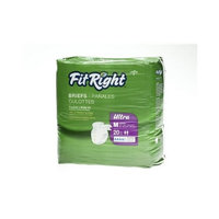 FitRight Ultra Adult Briefs with Tabs, Heavy Absorbency, X-Large, 57