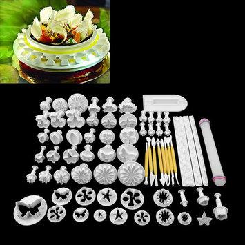68Pcs/set Fondant Cake Cookie maker Sugar Craft Decorating Plunger Flowers Modelling Tools Set DIY Cake Cutters Molds Sugarcraft