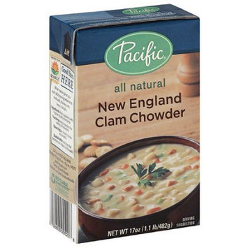 Pacific Foods Pacific New England Clam Chowder Soup, 17 oz, (Pack of 12)