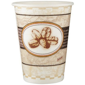 PerfecTouch 5342BE Insulated Paper Hot Cup, Beans Design, 12 oz Capacity (20 Sleeves of 50)