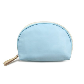 Admirable Idea Small Portable Cosmetic Travel Bag,Women Girls Handy Cosmetic Pouch,Travel Organizer Case Makeup Bag - Light blue