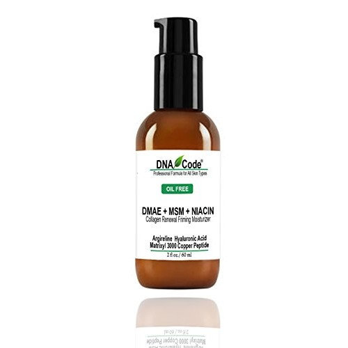 OIL FREE-DMAE+MSM+NIACIN Firming Moisturizer, 100% Pure Hyaluronic Acid +Matrixyl 3000