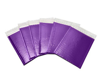 Packagingsuppliesbymail Glamour Bubble Mailers-9' x 11.5'-Purple-300 Pieces = 3 Cases