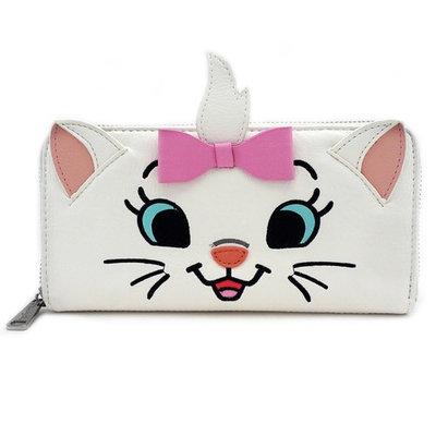 Loungefly Disney Aristocats Marie Cat White Kitten Face Vegan Zip Around Wallet