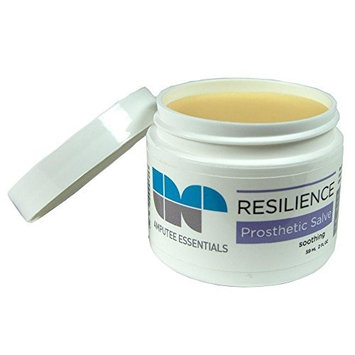 Amputee Essentials Resilience Prosthetic Salve, Skin Protectant, Spot Relief, 2 oz (59 ml) Jar
