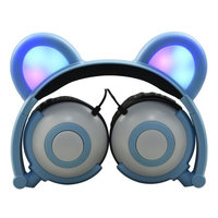 Edm Imports Inc Jamsonic Multicolored LED Light Up Foldable Panda Ear Headphones use for Phones, PC, MP3, MP4, Kids, Childrens, Boys, Girls