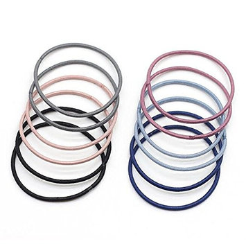 100PCS 2'' Multi-Color Hair Tie Ponytail Holders Rubber Hair Bands With a Clear Plastic Box for Thick Heavy and Curly Hair (Color Random)