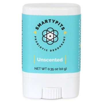 SmartyPits - Natural/Aluminum Free Prebiotic Deodorant (Unscented) (Travel-Size (Single))
