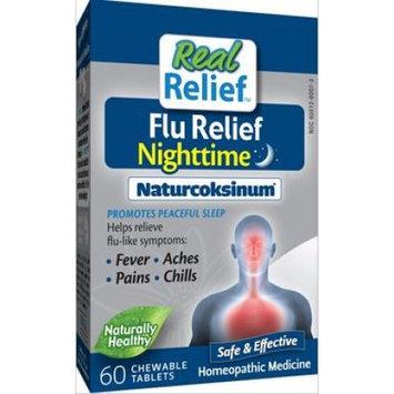 Homeolab USA - Real Relief Flu Nighttime Naturcoksinum - 60 Chewable Tablets