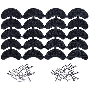 10 Pairs MUDDER Heel Plates Shoe Heel Taps Tips Sole Heel Repair Pad Replacement with Nails, Black