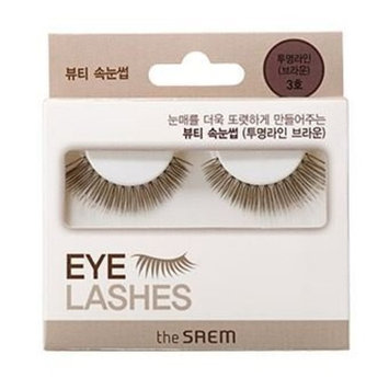[the SAEM] Beauty eyelash clear line(brown) No.03 1ea : Beauty
