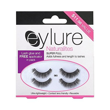 Eylure Volume False Eyelashes Multipack, Style No. 083, Reusable, Adhesive Included, 2 Count
