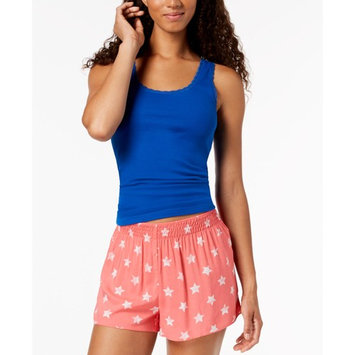 by Jennifer Moore Lace-Trim Tank Top & Printed Boxer Shorts Sleep Separates, Created for Macy's