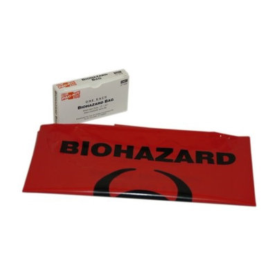 PAC-KIT 21-022G Biohazard Bag,24 x 24,Boxed