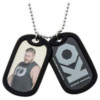 Men's WWE™ Kevin Owens Stainless Steel Double Dog Tag and Rubber Silencers (24