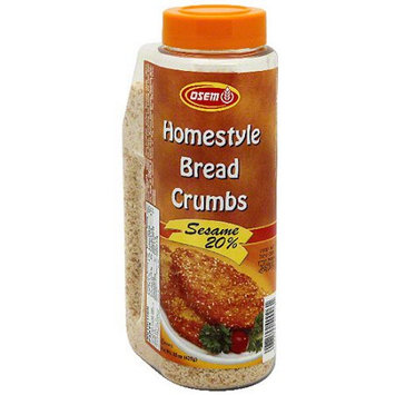 Osem Homestyle Bread Crumbs With Sesame, 15 oz (Pack of 12)