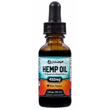 Premium Hemp Oil Mint Drops for Pain Relief, Stress Support & Anti Anxiety Supplement - Contains Omega 3 & 6 Fatty Acids - May Help Improve Sleep & Reduce Chronic Pain (450MG)