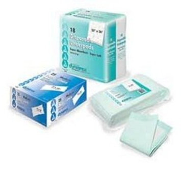 Dynarex Disposable Underpads 17 x 24 – Tissue Fill (2 Ply) 3/100/cs
