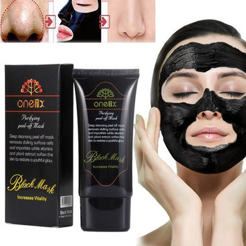 Boolavard Blackhead masks, Face Mask, Blackhead Remover Black Mud Mask, Facial Care Tearing style Deep Clean Blackhead Removal Cleaning Mineral Mud Peel Off Mask (50ml)