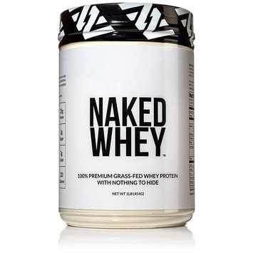 NAKED WHEY 1LB #1 Undenatured 100% Grass Fed Whey Protein Powder - US Farms, Bulk, Unflavored - GMO, Soy, and Gluten Free - No Preservatives -... [Unflavored]