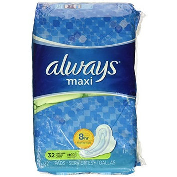 Always Maxi Pads, Super Protection with Flexi-Wings 32 ea by Always